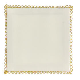Chalice veil (pall) Marian with satin hand embroidery s3
