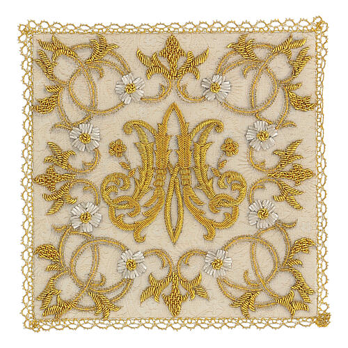 Chalice veil (pall) Marian with satin hand embroidery 1