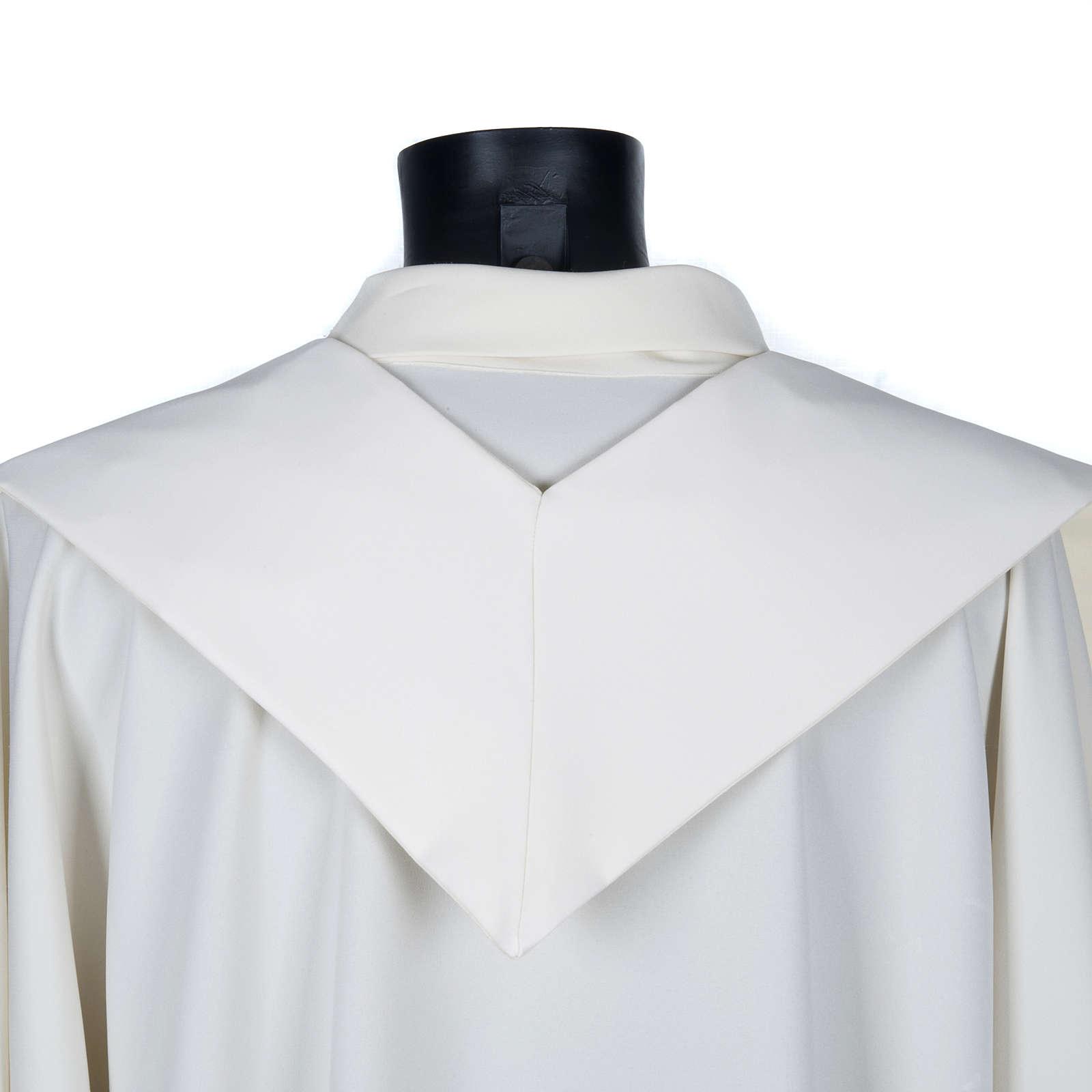 Stola sacerdotale ecrù croce dorata ricamata 4