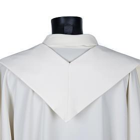 Stola sacerdotale ecrù croce dorata ricamata s4