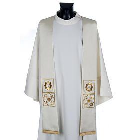 Priesterstola, Goldstickerei, Shantung s1