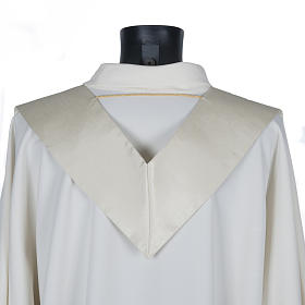 Priest stole in shantung, golden embroidery s4