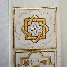 Etole liturgie shantung avec décor doré carr&eacut s2