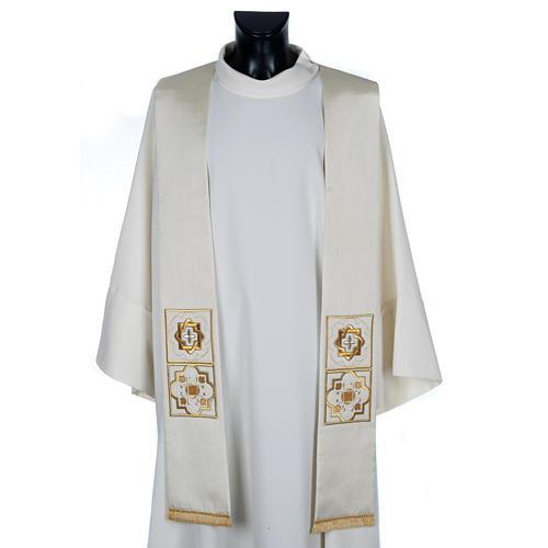 Etole liturgie shantung avec décor doré carr&eacut 1