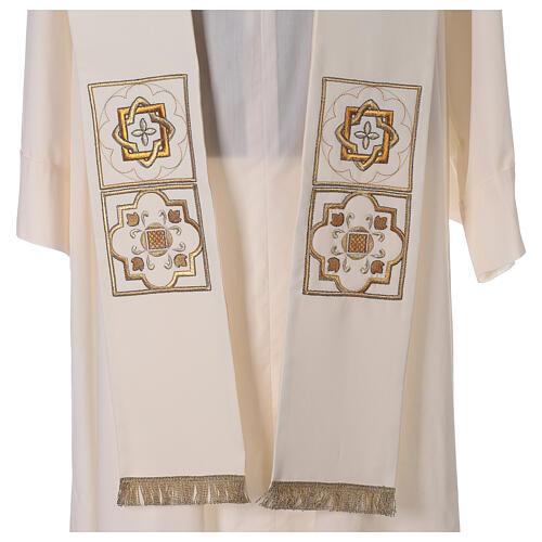 Etole liturgie polyester avec décor doré carr&eacut 2