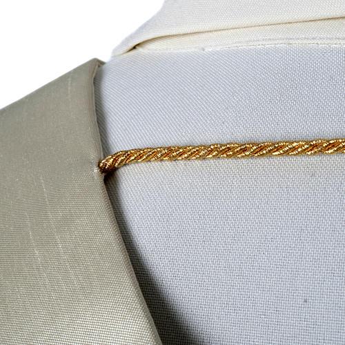 Stuła haftowana złote kwadraty szantung 5