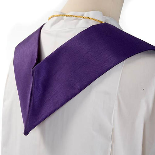 Clergy stole in shantung, cross with rays 5
