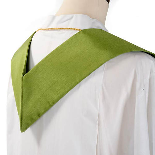 Clergy stole in shantung, cross with rays 6