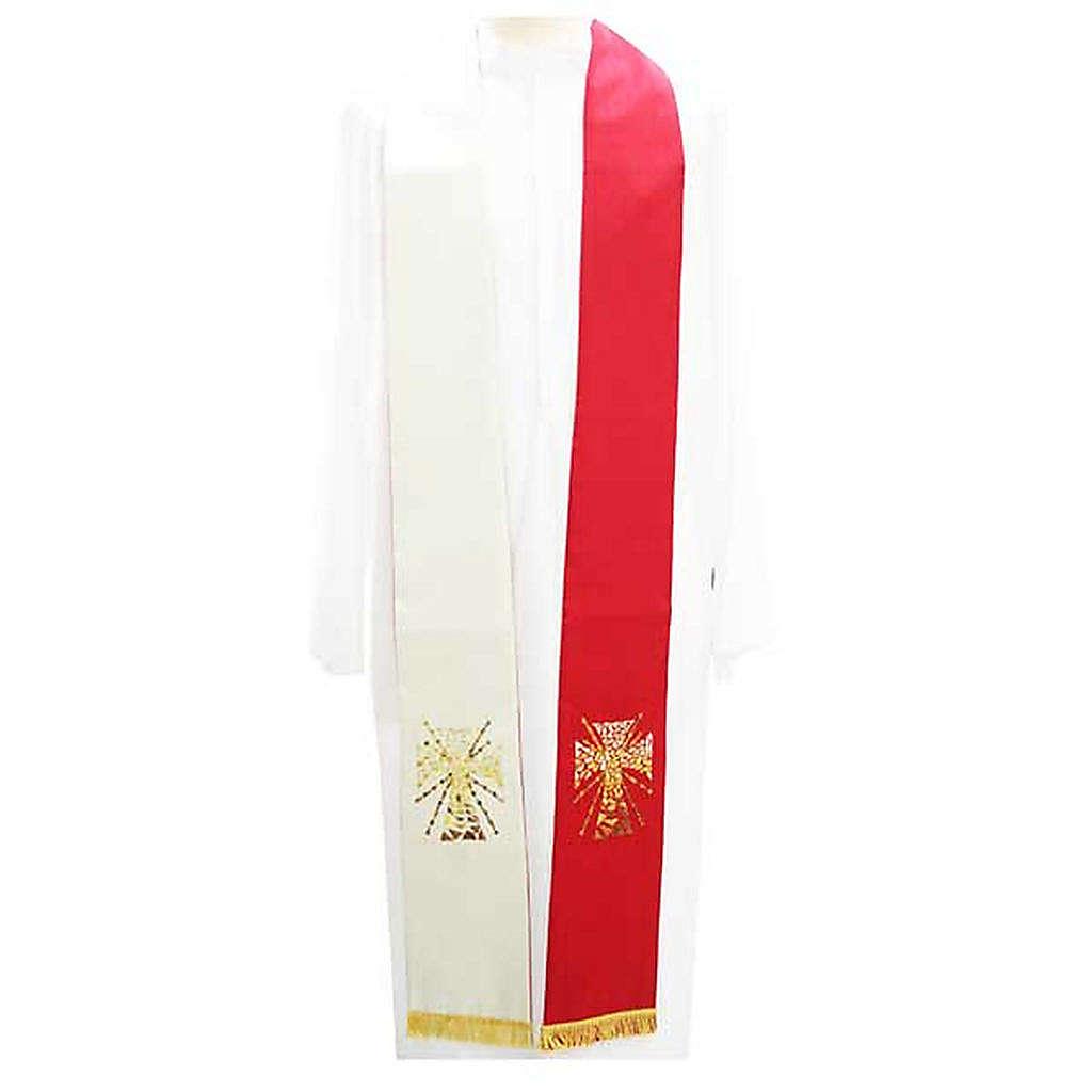 Estolón shantung decoraciones con cruz y rayos 4