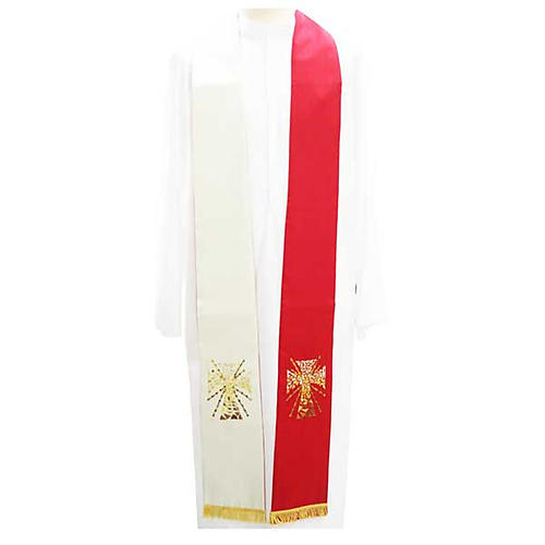 Overlay stole in shantung, cross with rays 1