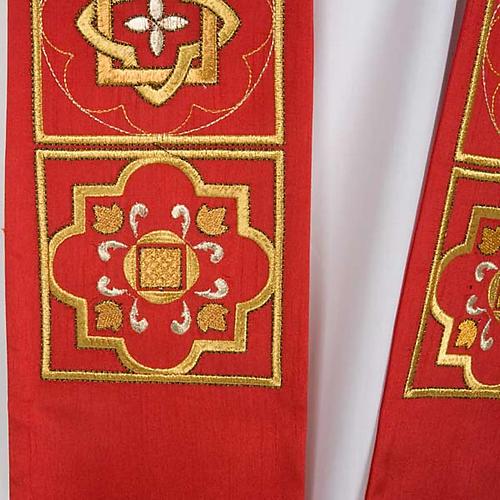 Estolón shantung decoraciones doradas cuadrados 6