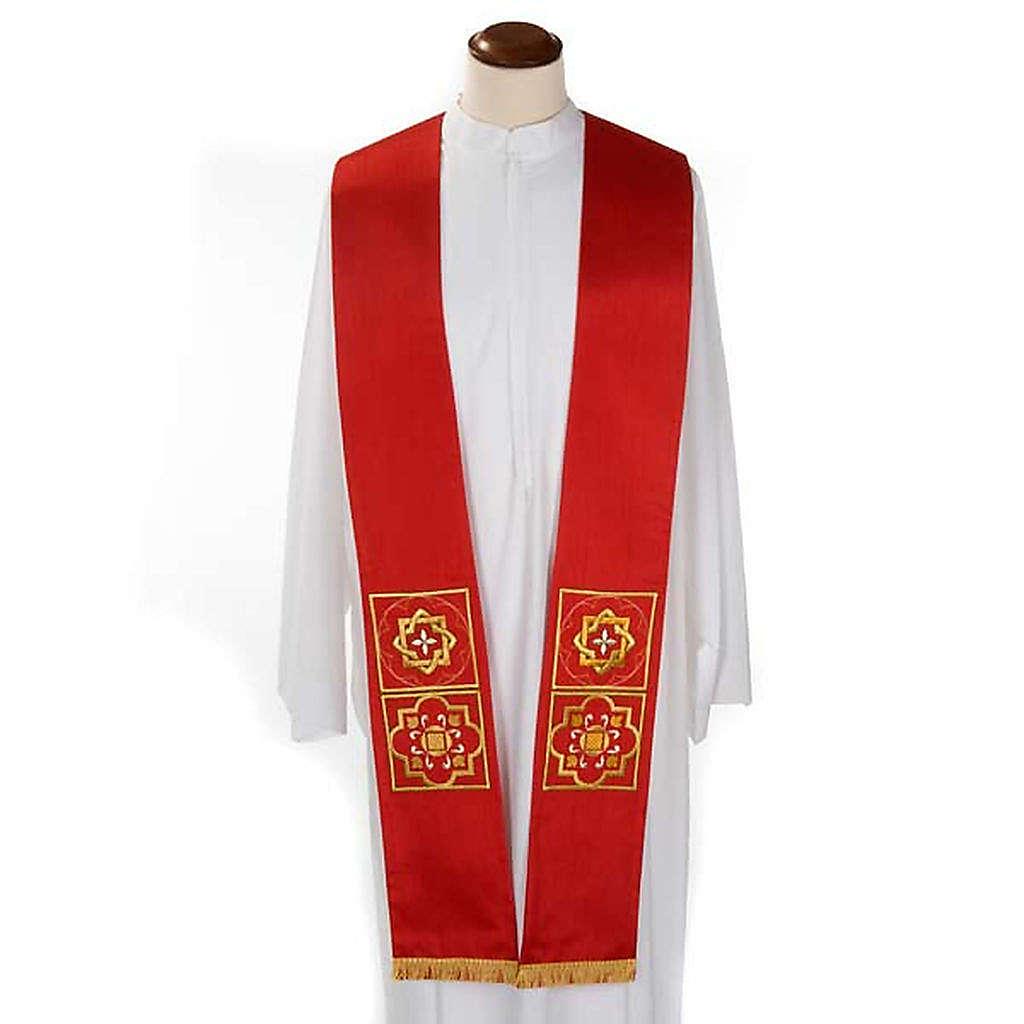 Etole liturgie shantung avec décor doré carr&eacut 4