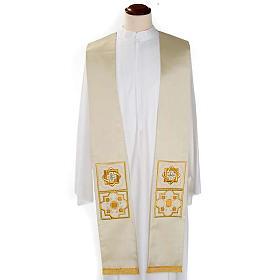 Etole liturgie shantung avec décor doré carr&eacut s4
