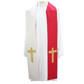 Estolón litúrgico cruces doradas s1