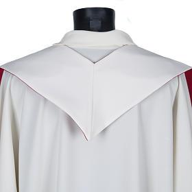 Étole liturgique avec croix dorées fleurs double face s7