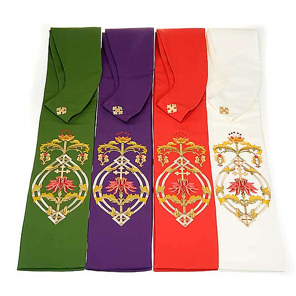 Priest stole with IHS embroidery 4 colours 4