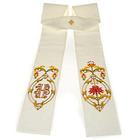Priest stole with IHS embroidery 4 colours s3