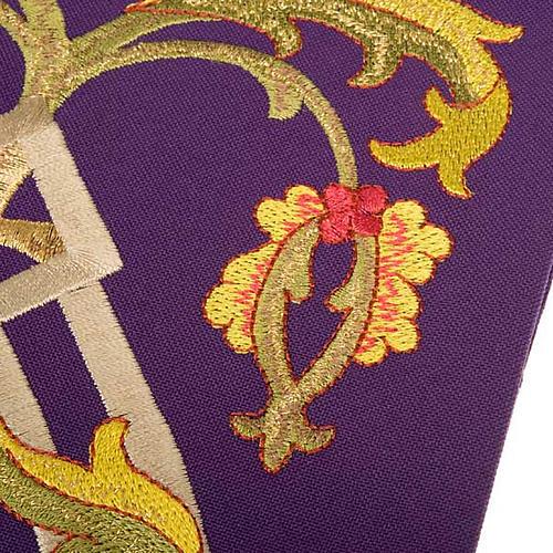 Estola sacerdotal con bordados IHS 5