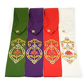 IHS clergy stole, 4 liturgical colors s2