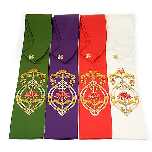 IHS clergy stole, 4 liturgical colors 2