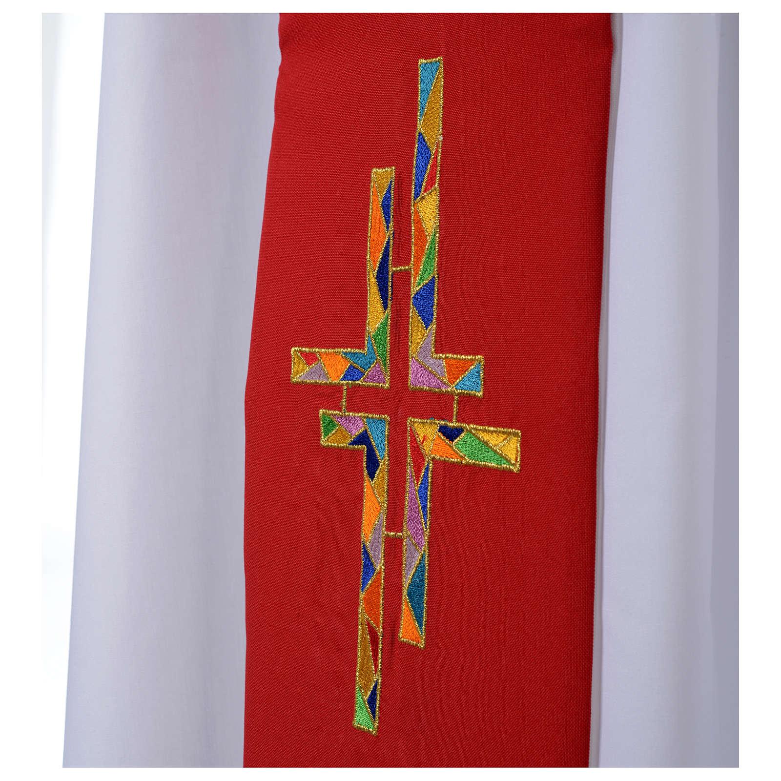 Estolón blanco rojo doble cara multicolor 4