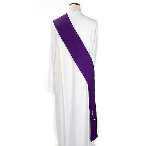 Diakonstola grün und violett double face 3