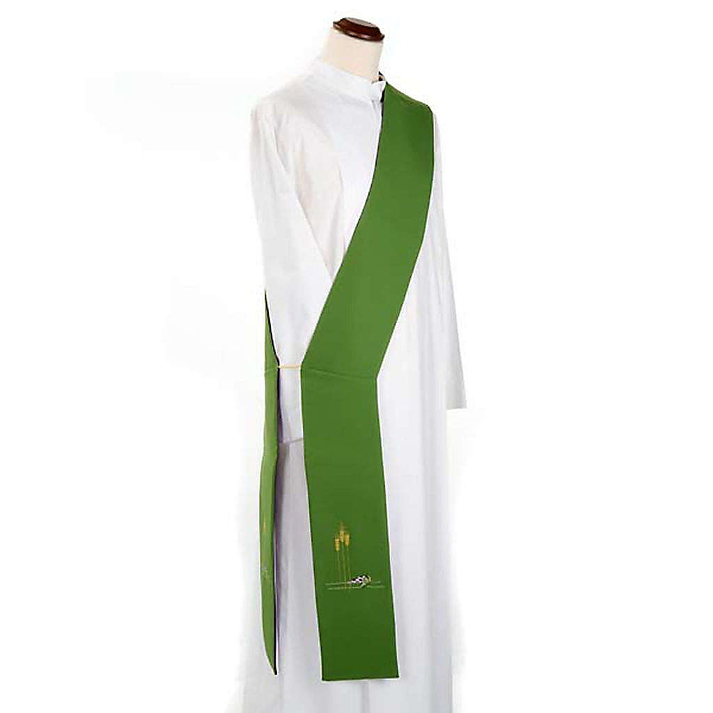 Deacon reversible stole green violet 4