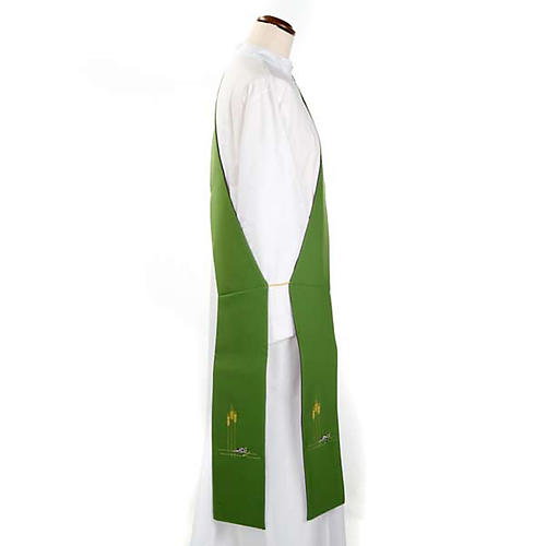 Deacon reversible stole green violet 2