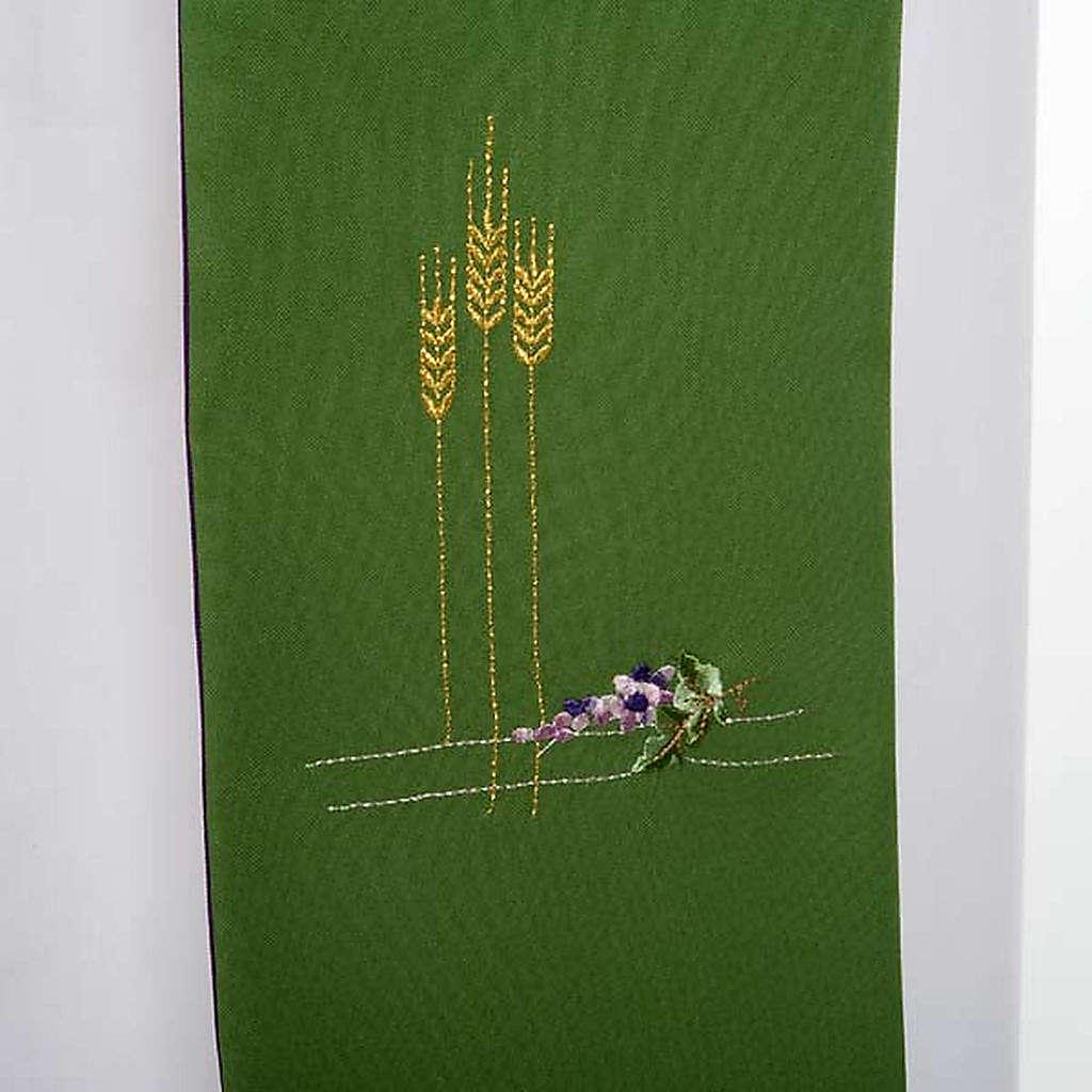 Estola para diácono doble cara verde y purpura 4