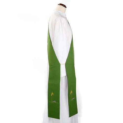 Stuła diakońska dwustronna zielono-fioletowa 2