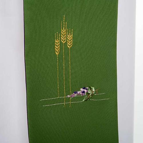 Stuła diakońska dwustronna zielono-fioletowa 4
