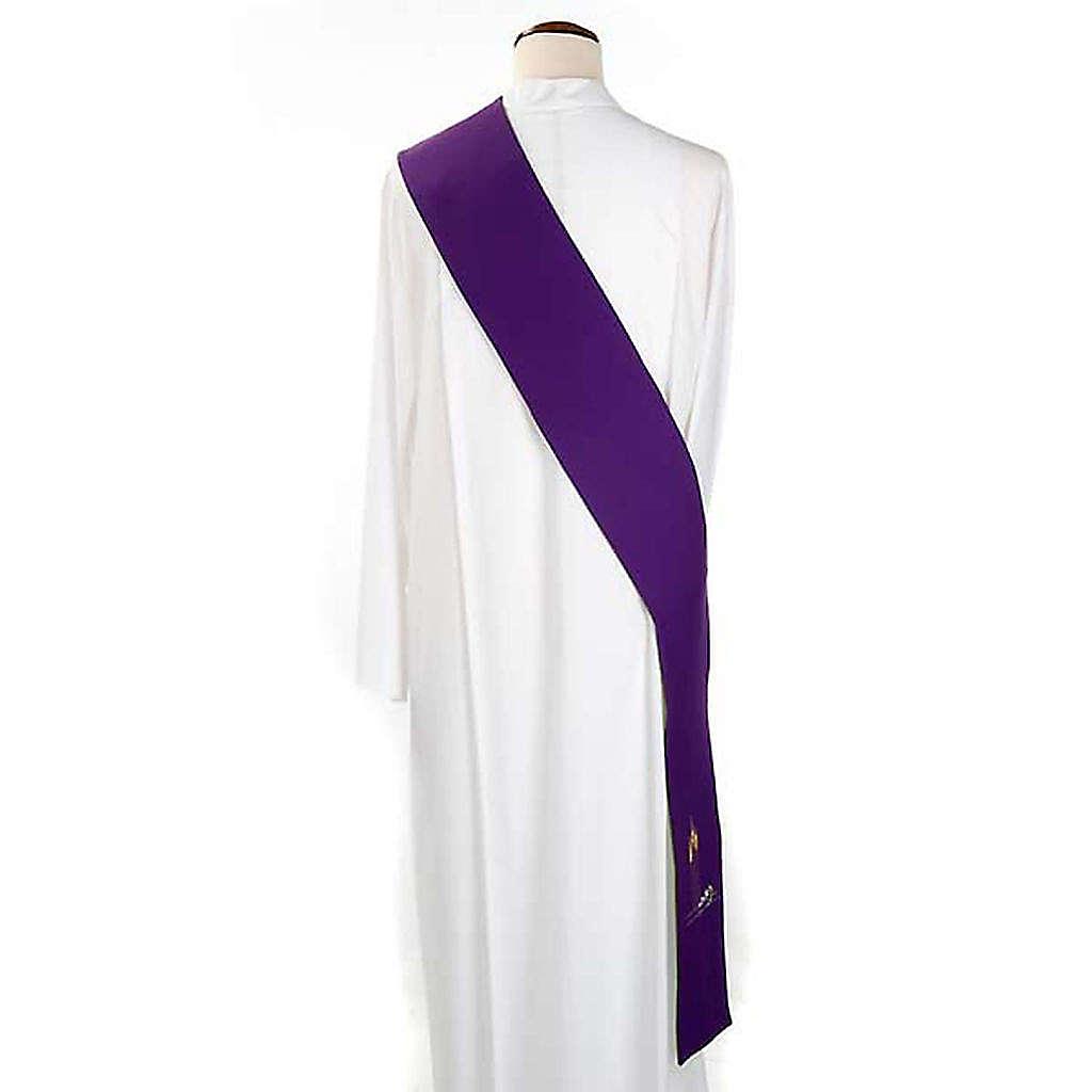 Green violet reversible deacon stole 4