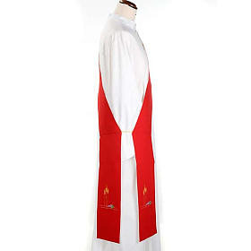 Deacon reversible stole, white red s2