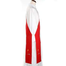 Stuła diakona dwustronna biało-czerwona s2