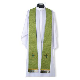 Étole liturgique lurex croix avec pierres en verre s2