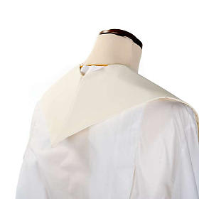 White Clergy Stole gold flowers s4