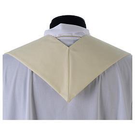 Stuła biała haft złoty wełna s4
