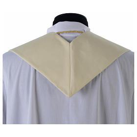 Estola blanca bordado dorado antiguo lana 100% s4