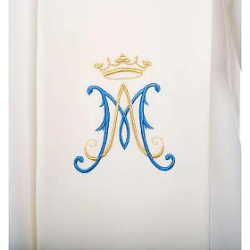 Estola branca símbolo mariano azul s2