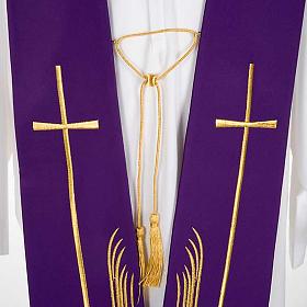 Étole liturgique cerfs au ruisseau et croix s5