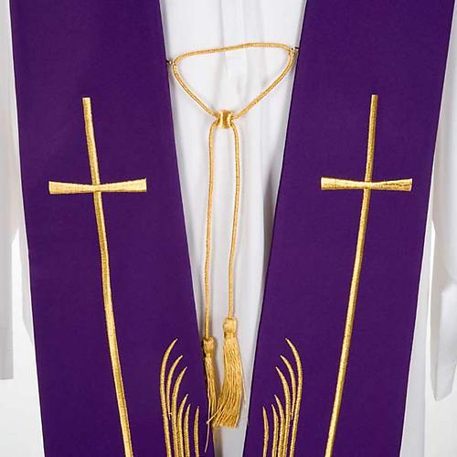 Étole liturgique cerfs au ruisseau et croix 5