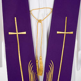 Clergy Stole with deer at the water stream and cross s5