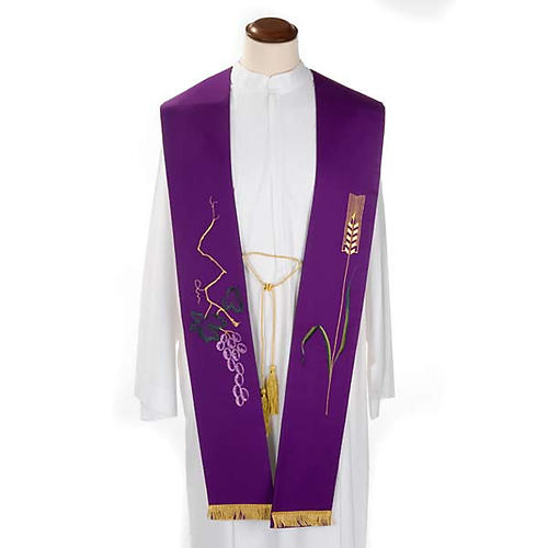 Stola sacerdotale uva e spiga 2