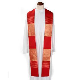 Étole de prêtre laine bandes dorées s2