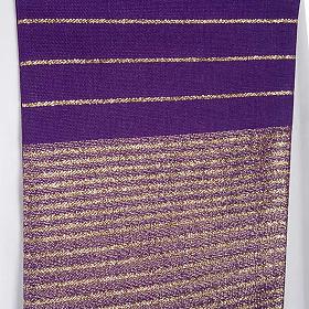 Étole de prêtre laine bandes dorées s6