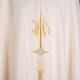 Stola liturgica IHS spiga ostia uva s8