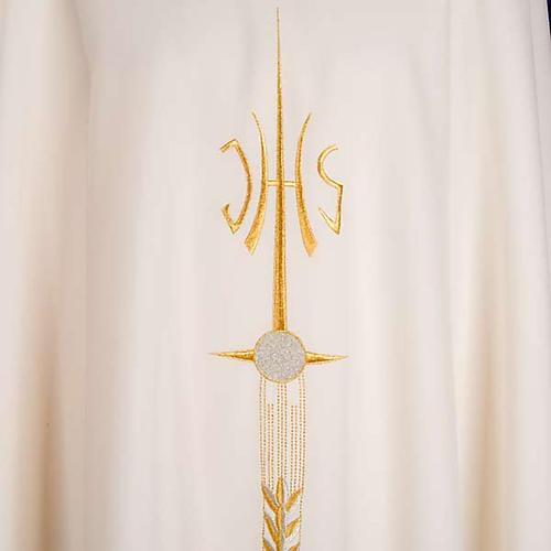 Stola liturgica IHS spiga ostia uva 8