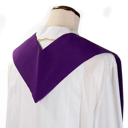 Liturgical stole with golden cross, ear of wheat and grapes 7
