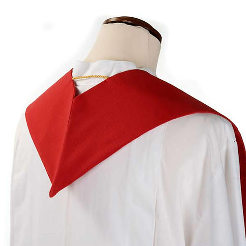 Liturgical stole with golden cross, ear of wheat and grapes 8