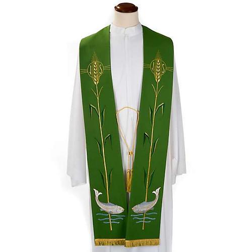 Stola liturgica spiga pesci 1